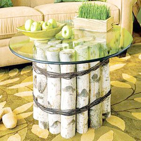 FUN!  Logs Furniture and Decorative Accessories, 16 DIY Home Decorating Ideas