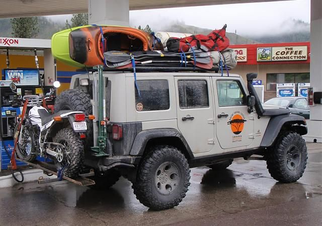 This is the dream... Driving your Jeep, with your bike on your back.