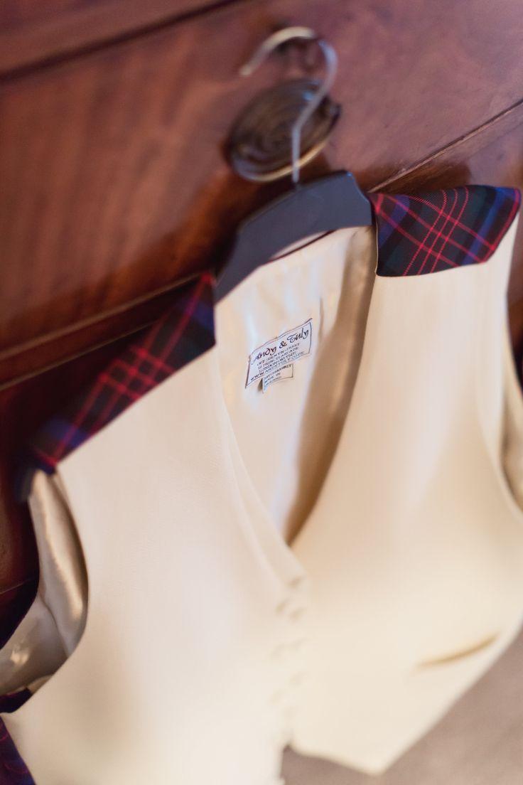 Personalised Groom & Ushers family tartan waistcoats - Jermyn Street London