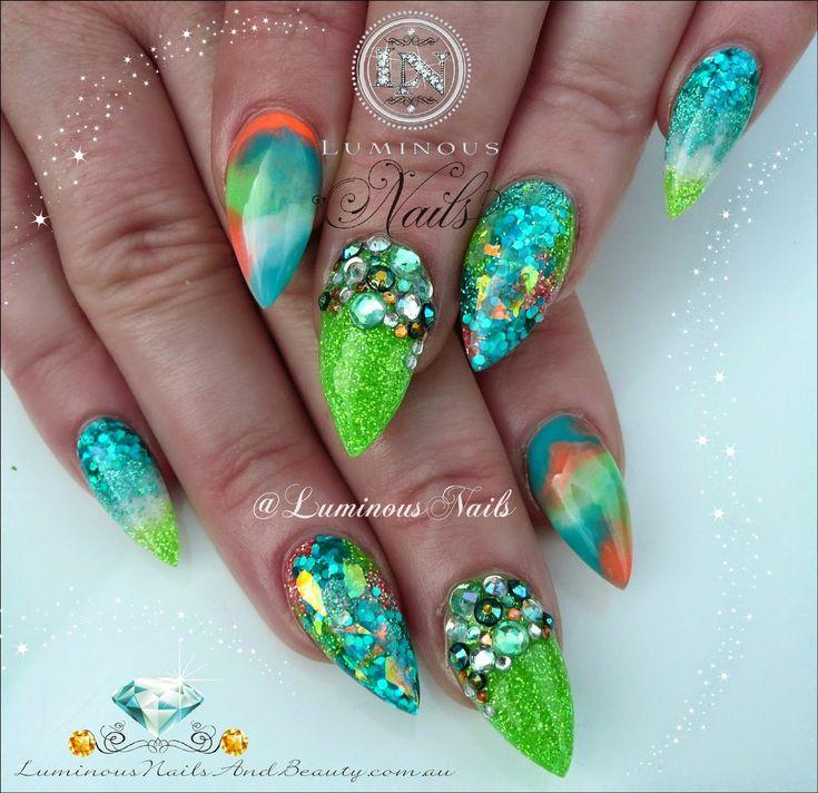 1000 images about luminous nail designs on pinterest for Acrylic nails salon brisbane