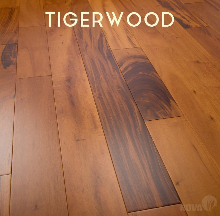 Tigerwood prefinished hardwood floors offered by Nova Elemental. Timeless Beauty By Nature