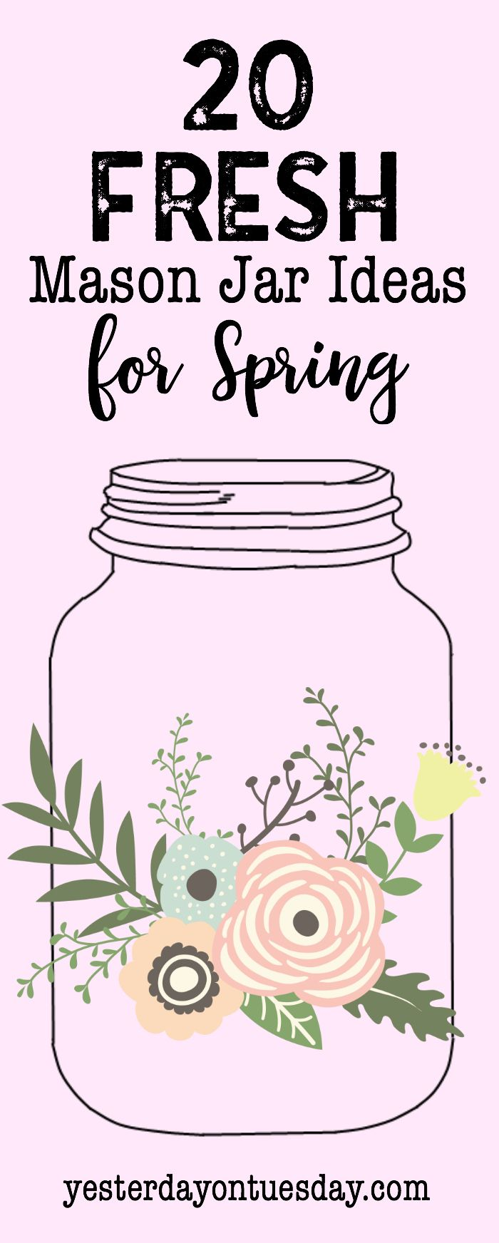 20 Fresh Mason Jar Ideas for Spring: Brand new jar projects for Easter, St. Patrick's Day, the home, gift ideas and organizing hacks! mason jars | spring | easter | st. patrick's day | coffee