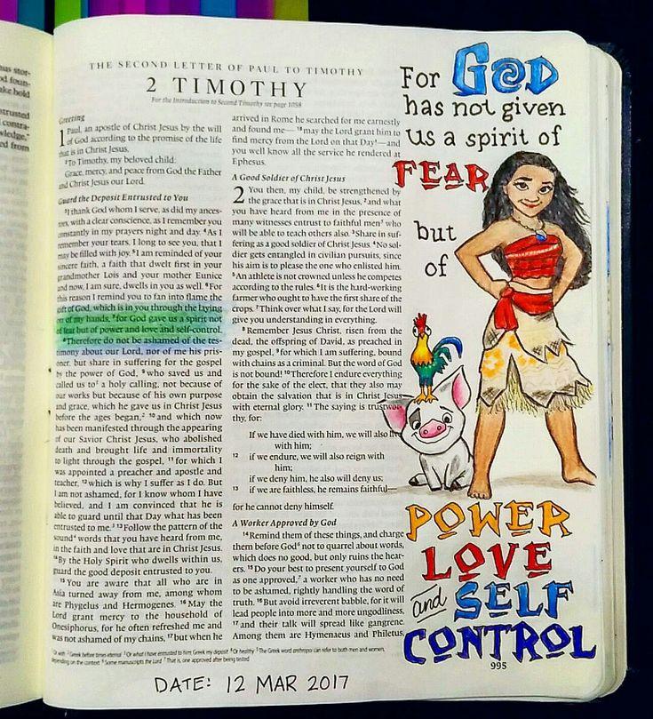 Bev Knaup bible journaling 2 Timothy 1:7