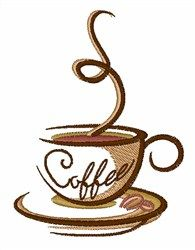 Coffee Cup embroidery design from embroiderydesigns.com