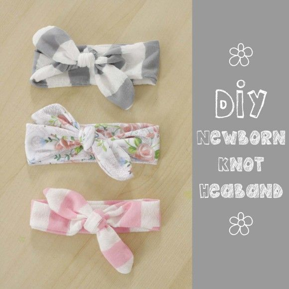 knotted headband tutorial. Perfect gift for newborns! In leads burp cloth and swaddle blanket tutorials, too!