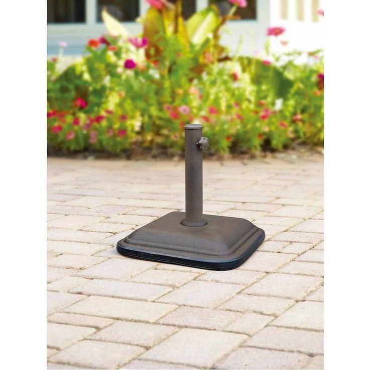 Metal Umbrella Base Outdoor Patio Garden Powder Coated Steel Fits Perfect NEW #Umbrellabase