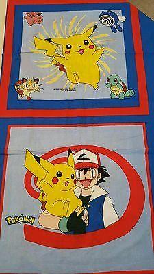 1998 Nintendo Pokemon Fabric Panels. 3 Yards Uncut.