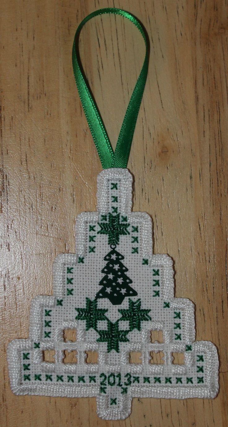 Hardanger Christmas Tree Ornament