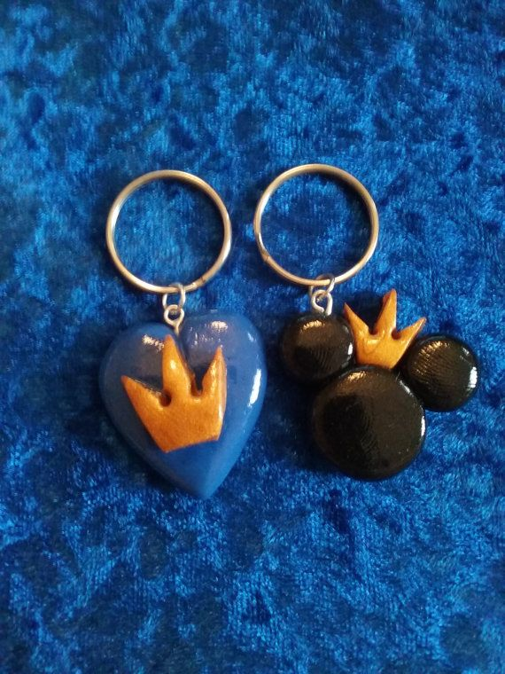 Kingdom Hearts Duo Polymer Clay Keyring Set by RowYourGoat