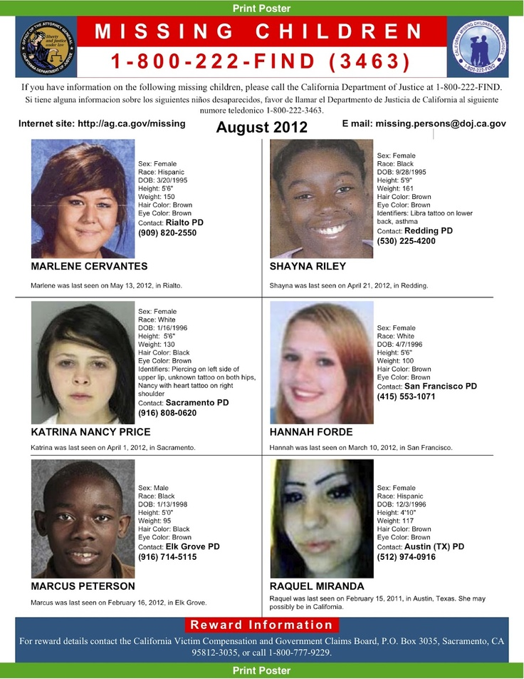 Missing Persons of America - Latest news and information about missing people Missing Persons of America