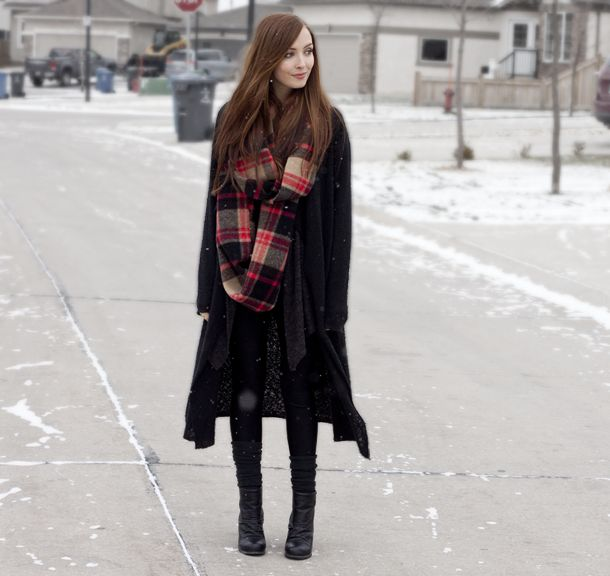 Frost // Plaid Circle Scarf - flattery