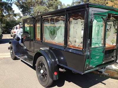 Historic Guardian Funerals hearse at the Rookwood open day (2012).