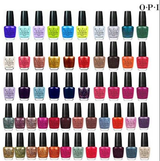 Opi Nail Colours Chart Erkalnathandedecker