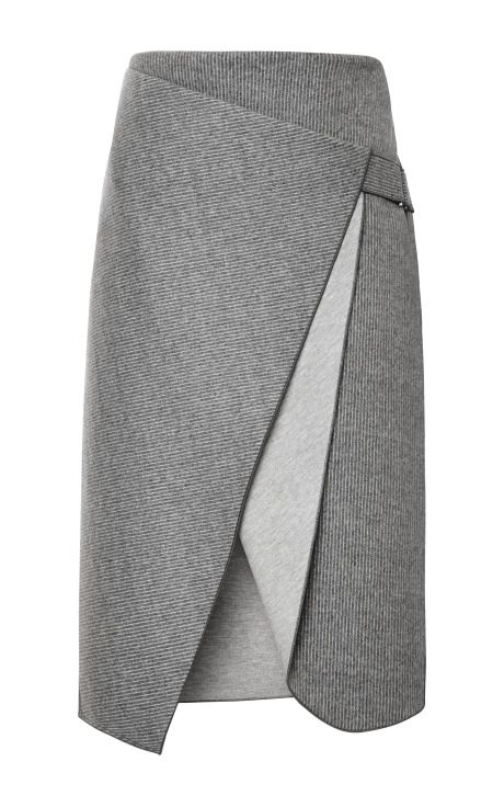 Bonded Felt And Raven Saddle Envelope Skirt by Dion Lee for Preorder on Moda Operandi