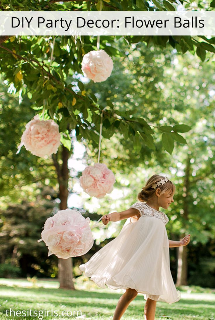 Diy Flower Balls Learn How To Make Hanging Flower Balls For Party Decor Photo Shoots Or Wedding Decor Diy Flower Ball Flower Ball Diy Wedding Decorations