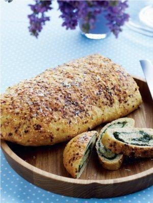 Spinatbrød med chili og parmesan | Magasinet Mad!