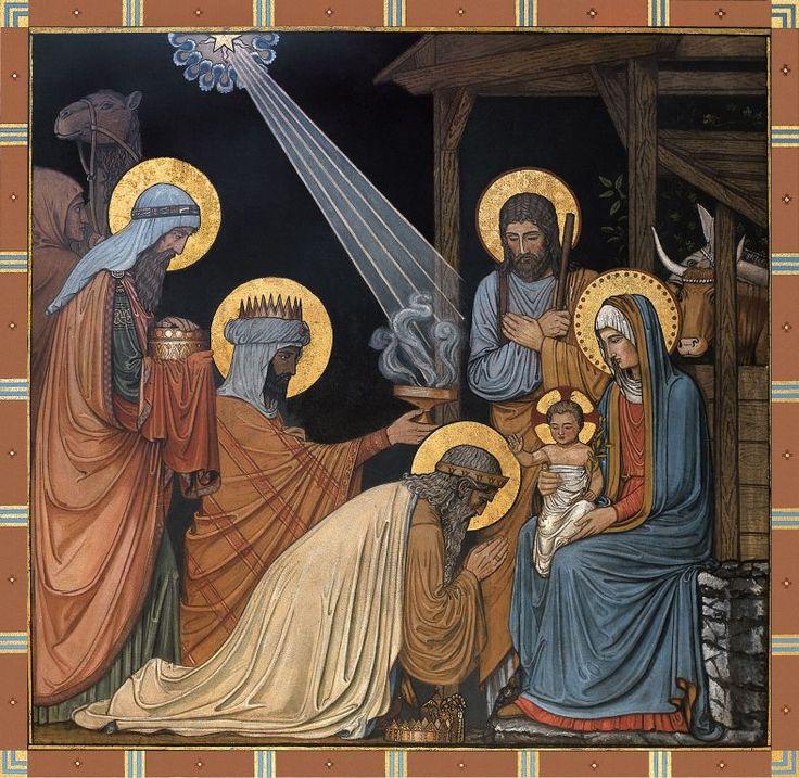 Épiphanie du Seigneur Évangile de Jésus Christ selon saint Matthieu 2,1-12. J ésus était né à Bethléem en Judée, au temps du roi Hérode le Grand. Or, voici que des mages venus d'Orient arrivèrent à Jérusalem et demandèrent : « Où est le roi des Juifs...