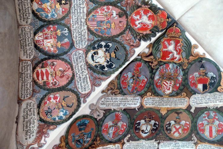 Office of the Bohemian Land Rolls (Prague Castle). Coats of arms of Bohemian nobility.