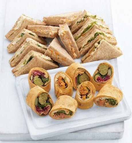 Veggie wrap & sandwich platter