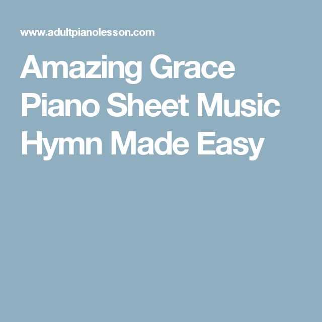 1000+ Ideas About Amazing Grace Sheet Music On Pinterest