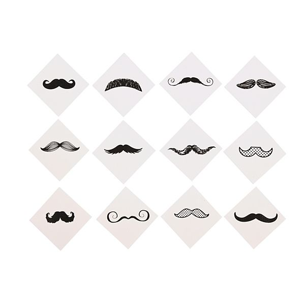 Demco.com -  Mustache Finger Tattoos
