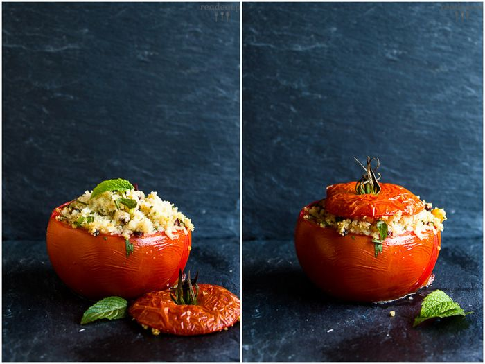 Stuffed tomatoes with couscous, chickpeas and olives :: readeat.pl