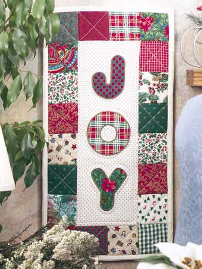 Quilting - Special Occasions - Christmas Quilts - Joy Banner Quilting Pattern - #FQ00270