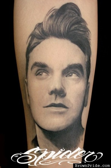 Morrissey Tattoo by Spider of Mi Familia Tattoo Studios