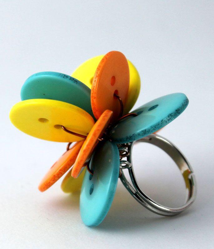 Poppy ring - bubble gum