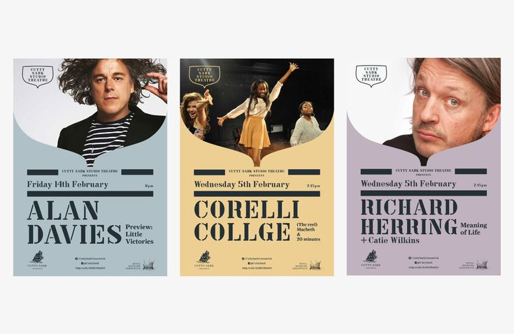 cutty sark studio theatre posters by iwant design