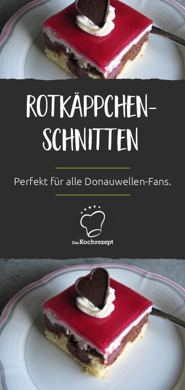 Rotkäppchen-Schnitten – Blechkuchen Rezepte
