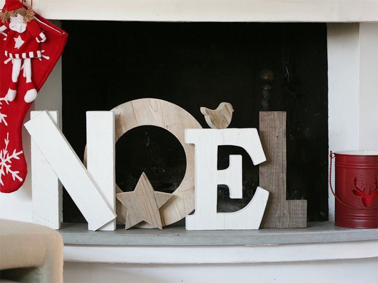 Noel in legno di recupero