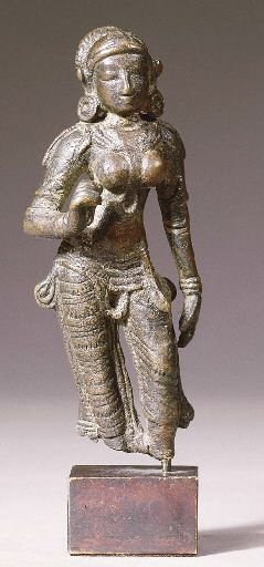 A South Indian bronze figure of Sita from the Chola Dynasty circa 11th century