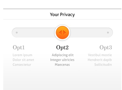 NIce simple way of enabling someone to set privacy