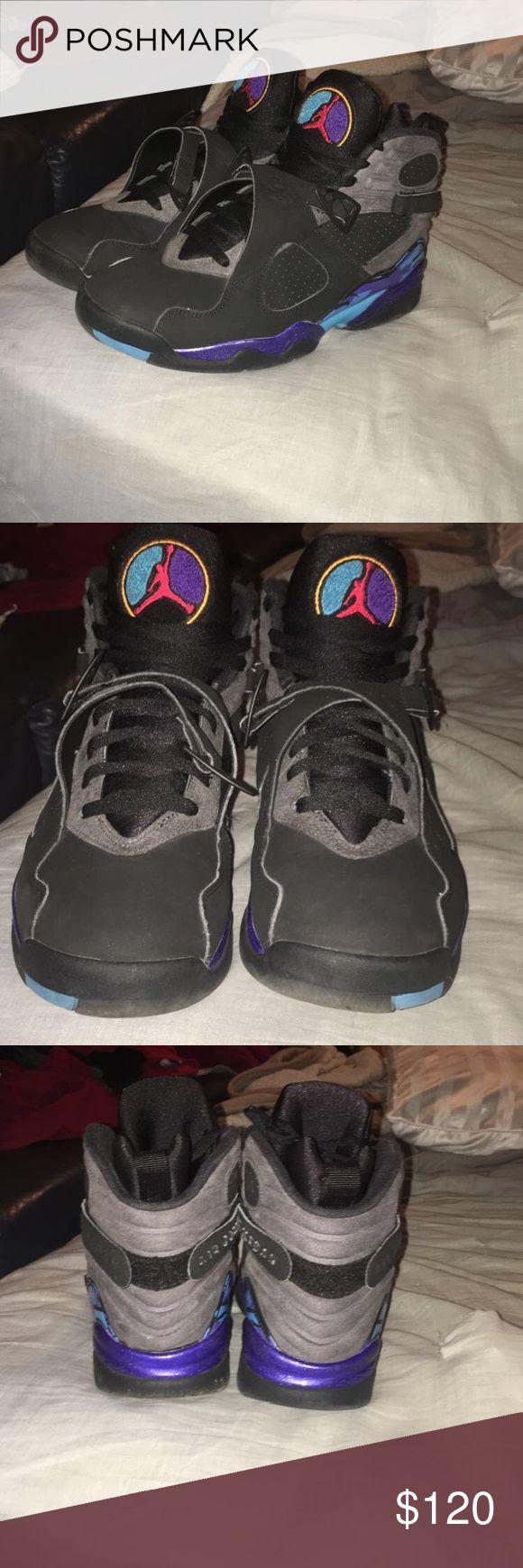 Jordan aqua 8's 2015 size 9.5 condition- 9/10 Jordan 8 aqua size 9.5 Shoes Sneakers