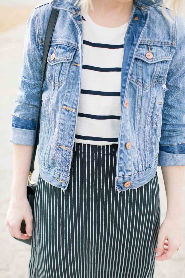 How To Style Navy Stripes On Stripes - Poor Little It Girl