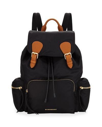Burberry+Rucksack+Runway+Nylon+Backpack+Black+ +Bag
