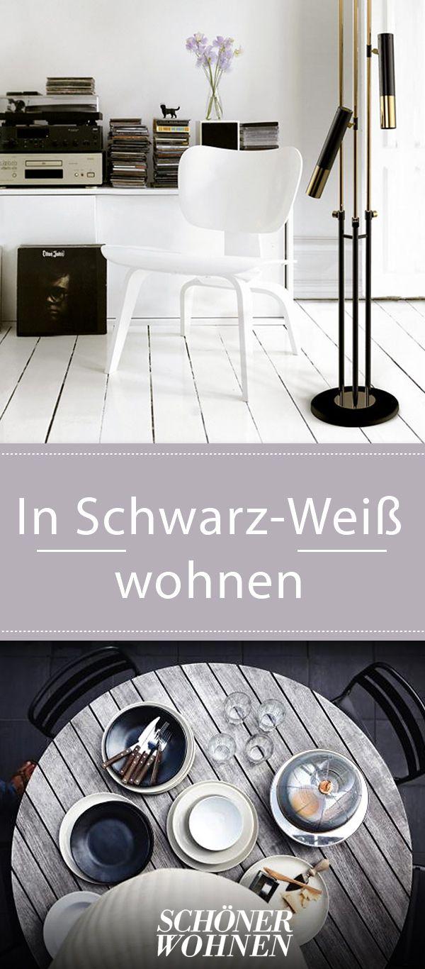 Schwarz Und Weiss Trifft Ethno Im Wohnzimmer Bild 7 Schwarz Weiss Schwarz Und Wohnzimmer