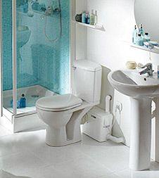 Upflush macerator toilet tank. $400, Canada only.                                                                                                                                                      More
