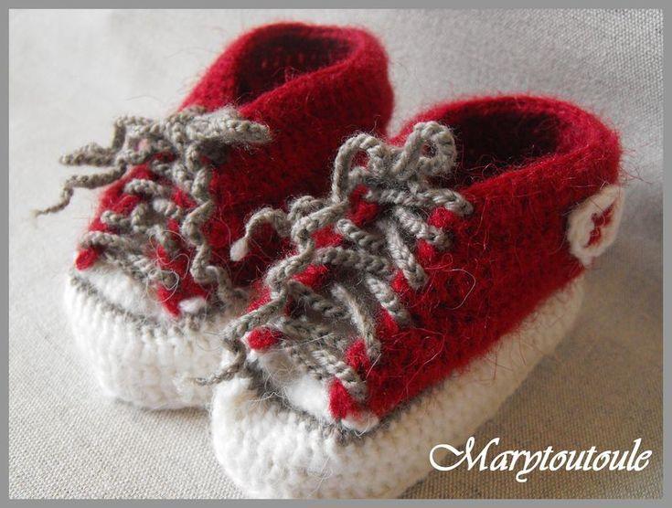 Tuto chaussons au crochet - marytoutoule