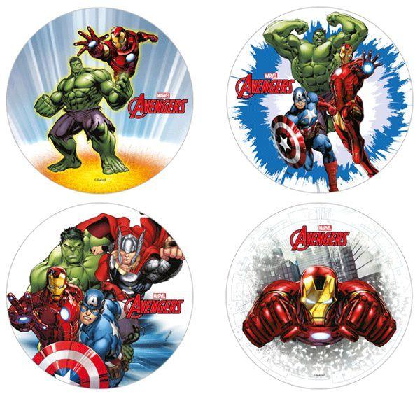 Dischi mousse Avengers  pz.1
