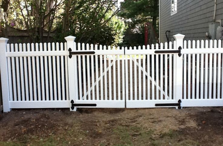 6 Foot Wide Double Picket Fence Gate Installed By A
