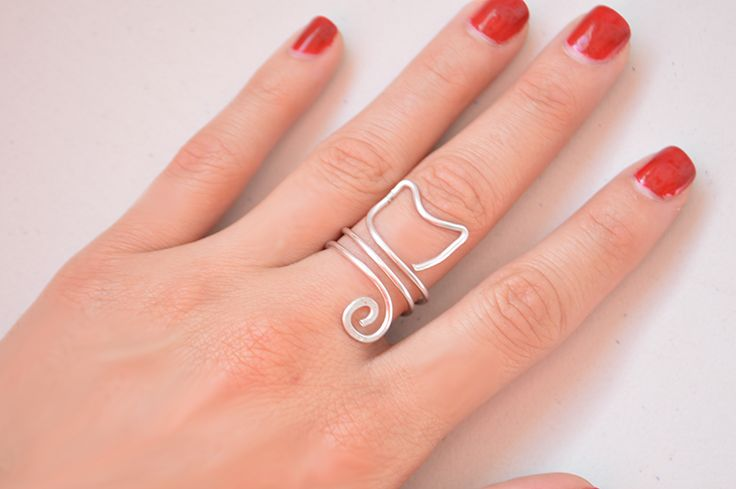 Cómo hacer un anillo gato con alambre fácil
