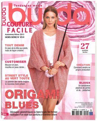 Couture facile Burda, Automne Hiver 2013
