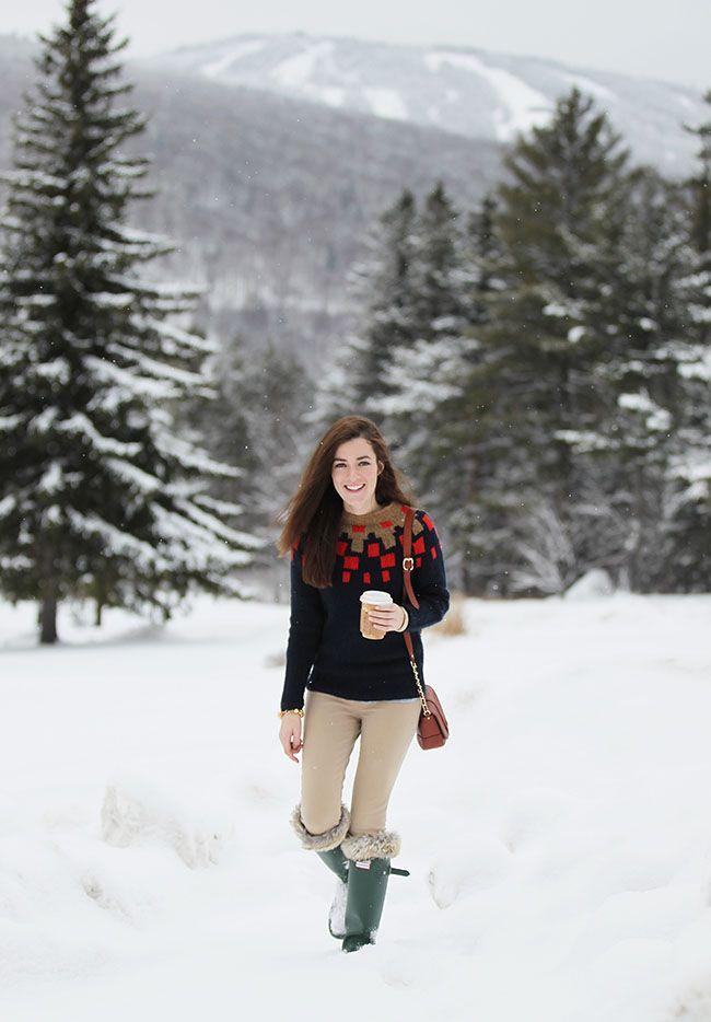 Sarah Vickers of Classy Girls Wear Pearls wearing Hunter Original Tour Boots