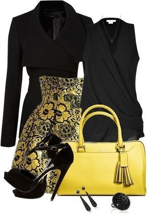 Trendy collection of yellow + black, autumn fashion Sunny and warm days to a sunny and warm colors in the wardrobe. Yellow color again at the height of fashion — Institute Pantone colors including buttercup hue of the ten most current colors of the year. Psychologists say that the clothes of solar scales chosen by people endowed with optimism and a healthy sense of humor and have positive thinking. This color should definitely try everything — to choose the right shade, not only lift your…