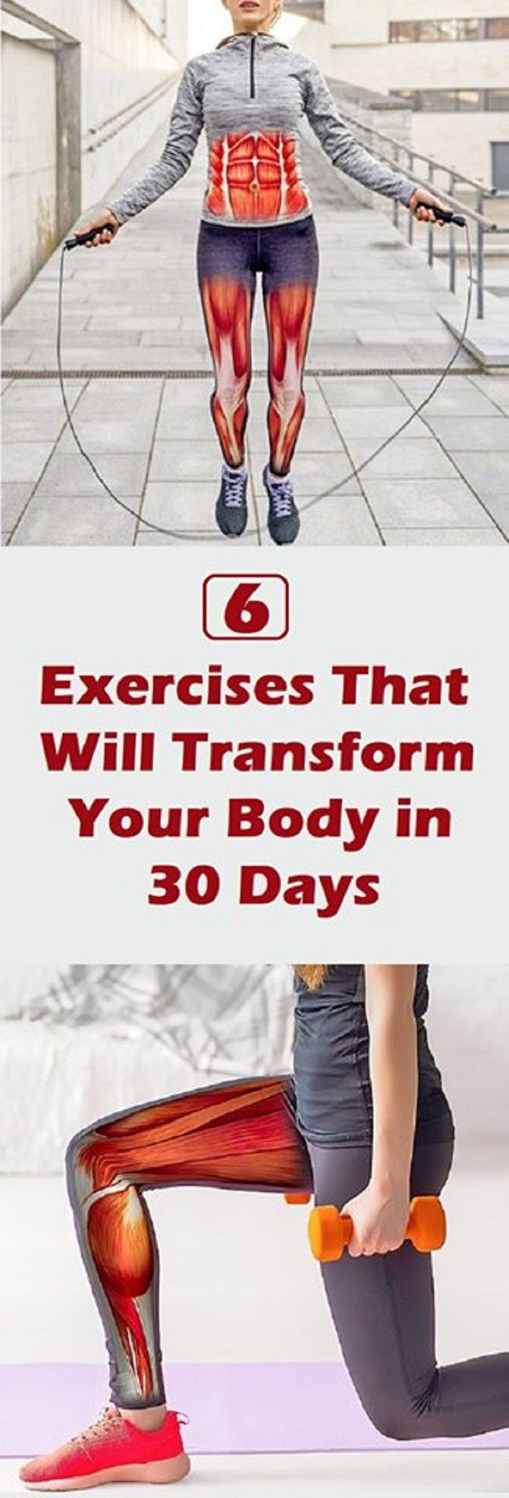 6 Exercises That Will Transform Your Body in 30 Days – Health Advice and Beauty Tips