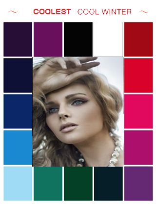 I know this sounds crazy, since I'm a dark-brown haired and medium-brown eyed person, but these are my BEST colors. Reds, purples, greens...but I look great in grays, olives, & browns, too...I wish someone would just TELL me what I am...ugh...