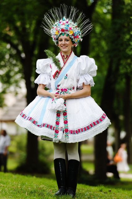 10 Stunning Pictures Of Wedding Dresses From Around The World #refinery29  http://www.refinery29.com/wedding-dresses-around-the-world#slide-4  HungaryA bride dons the traditional wedding attire and headdress of the Palóc subgroup in Northern Hungary....