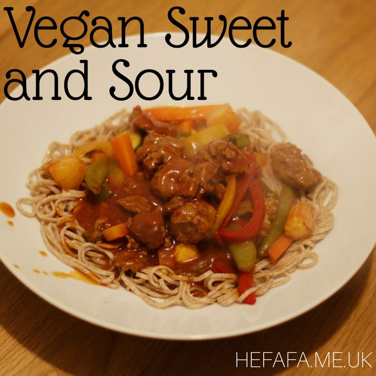 vegan sweet and sour recipe with seitan